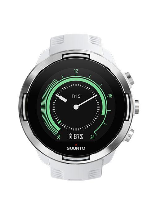 SS050021000 - SUUNTO9 - GEN1 BARO White - Front View_clface-suunto9-greenのコピー